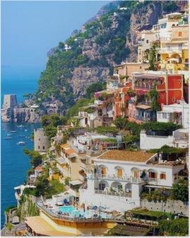 Plakat Positano, Włochy. Wybrzeże Amalfi