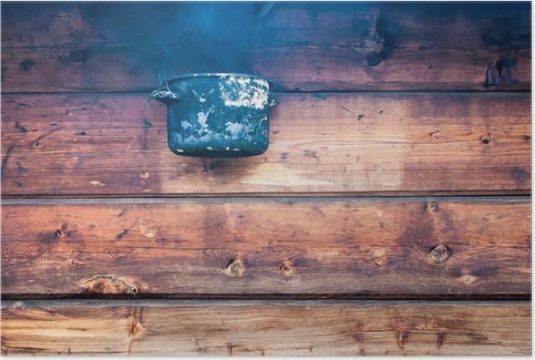 Plakát Pot přes dřevěnou stěnu - Zemědělství