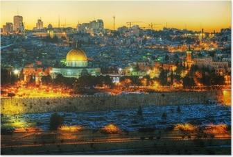 Plakat Przegląd Starego Miasta w Jerozolimie, Izrael