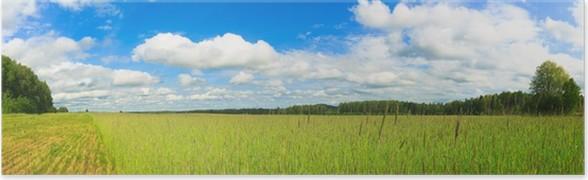 Plakát Pšeničné pole panorama - Roční období