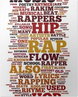 Plakat Rap i Hip-Hop Muzyka