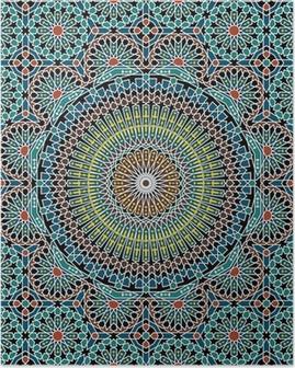 Plakát Razil Moorish bezešvé vzor