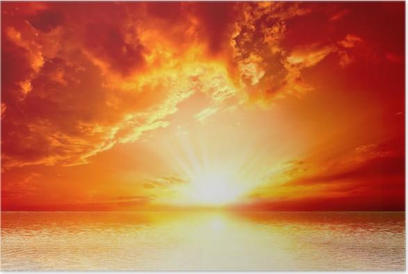 Plakát Red Sunset - Nebe