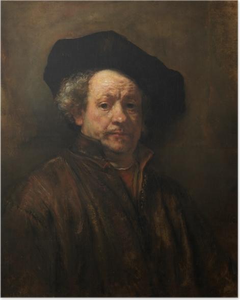 Plakat Rembrandt - Autoportret - Reprodukcje