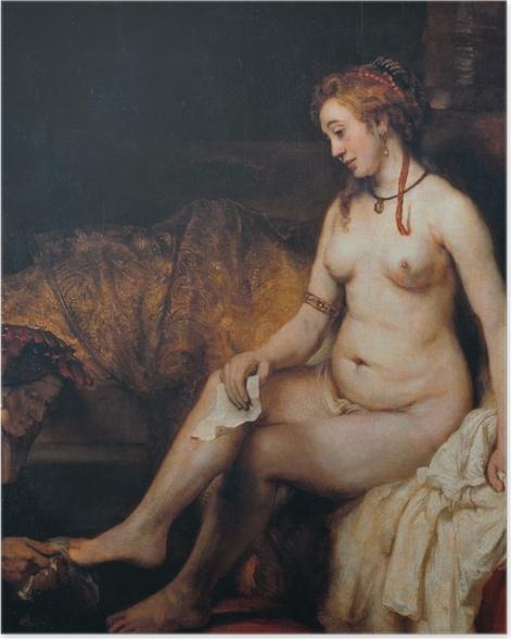 Plakat Rembrandt - Batszeba w kąpieli - Reprodukcje