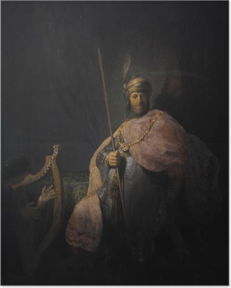 Plakat Rembrandt - Dwaid grający na harfie Saulowi - Reprodukcje