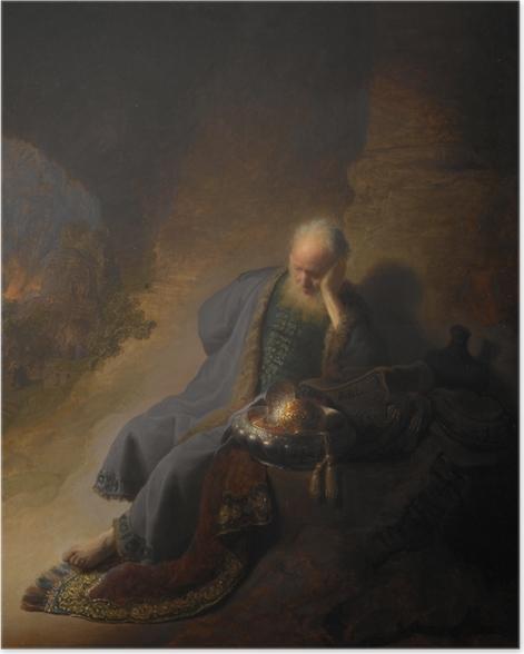 Plakat Rembrandt - Jeremiasz opłakujący zburzenie Jerozolimy - Reprodukcje