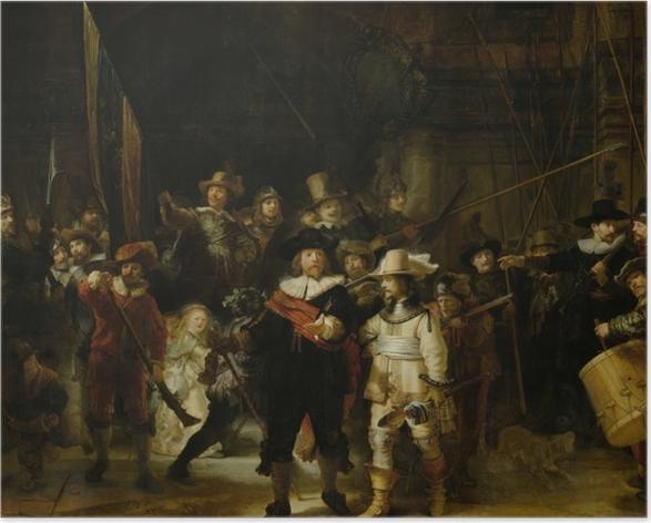 Plakat Rembrandt - Kompania Fransa Banninga Cocqa i Willema van Ruytenburcha - Reprodukcje