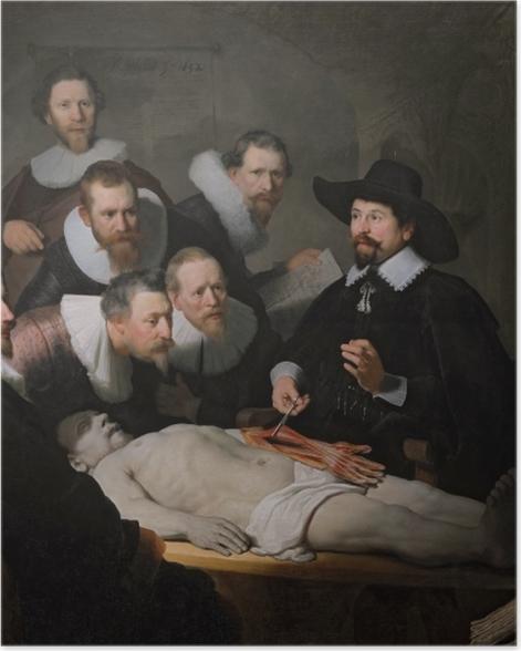 Plakat Rembrandt - Lekcja anatomii doktora Tulpa - Reprodukcje