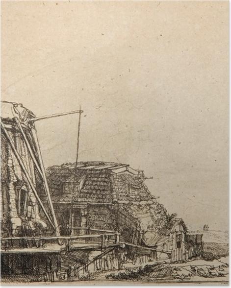 Plakat Rembrandt - Młyn - Reprodukcje