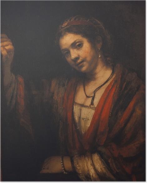 Plakat Rembrandt - Portret Hendrickje Stoffels - Reprodukcje