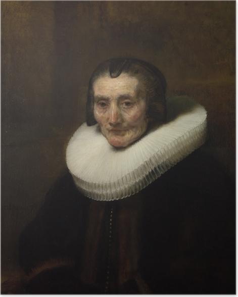 Plakat Rembrandt - Portret Margarethy de Geer - Reprodukcje