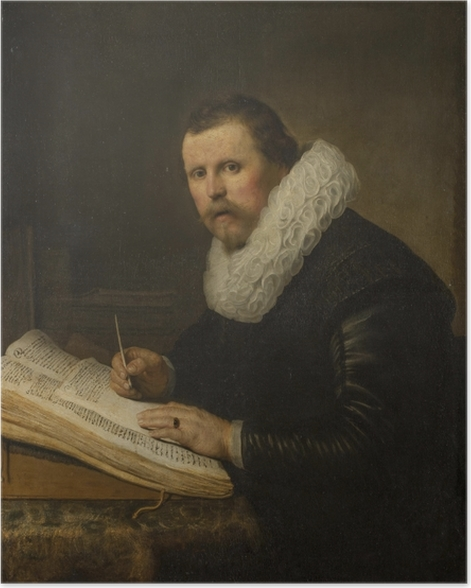 Plakat Rembrandt - Portret uczonego - Reprodukcje