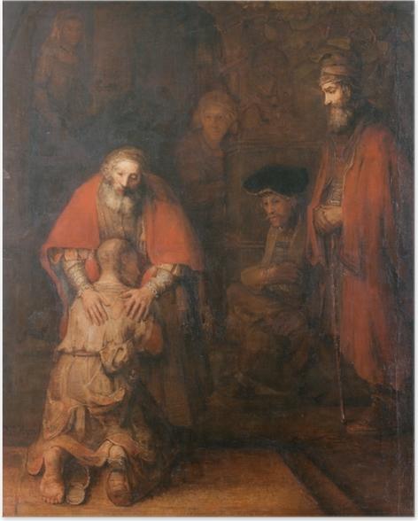 Plakat Rembrandt - Powrót syna marnotrawnego - Reprodukcje