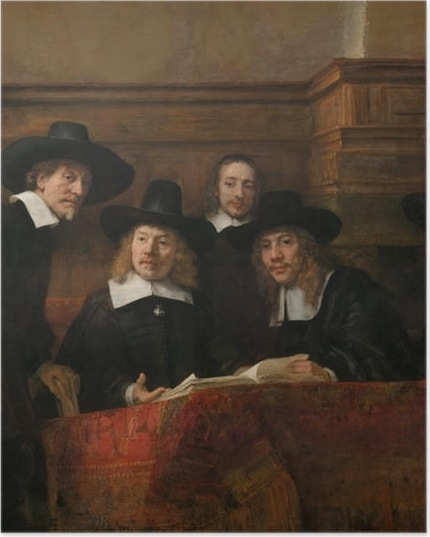 Plakat Rembrandt - Syndycy cechu sukienników - Reprodukcje