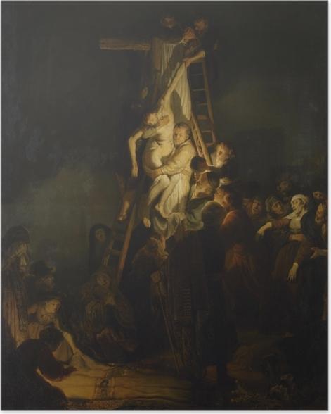 Plakat Rembrandt - Zdjęcie z krzyża - Reprodukcje
