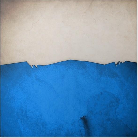 Plakát Riped starý papír na grunge zeď na pozadí - Umění a tvorba