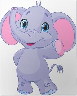 Plakát Roztomilý slon