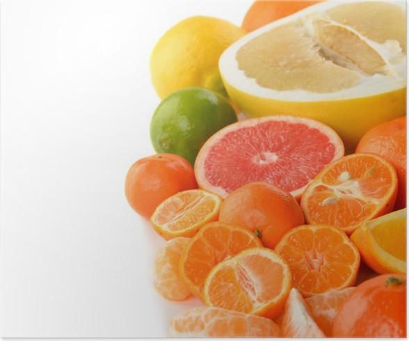 Plakát Různé citrus - Ovoce