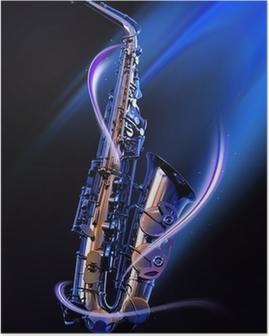 Plakat Saksofon