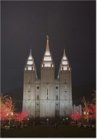 Plakát Salt Lake chrám východní straně na Vánoce - Veřejné budovy