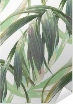Plakat samoprzylepny Akwarele ilustracji z liścia, bez szwu wzorca na białym tle