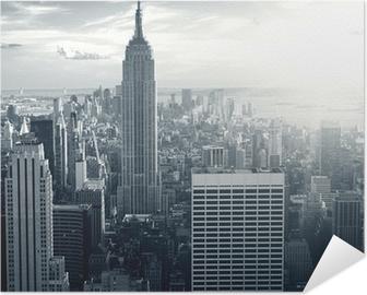 Plakat samoprzylepny Amazing view to New York Manhattan at sunset