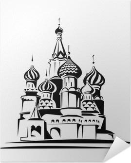 Plakat samoprzylepny Bazyli Cathedral