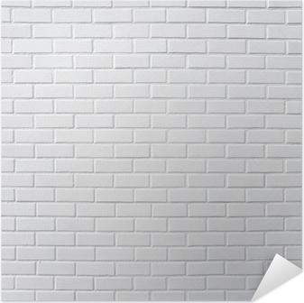 Plakat samoprzylepny Biały mur z cegły