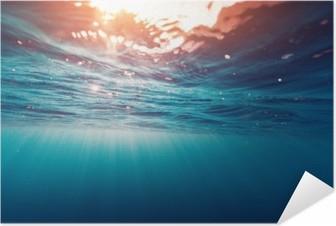 Plakat samoprzylepny Błękitne morze