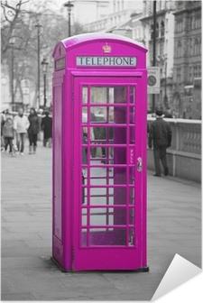 Plakat samoprzylepny Budka telefoniczna w Londynie
