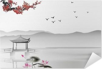Plakat samoprzylepny Chińskich malowanie