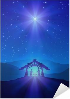 Plakat samoprzylepny Christian Christmas nocy