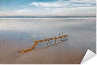 Plakat samoprzylepny Długa ekspozycja na plaży