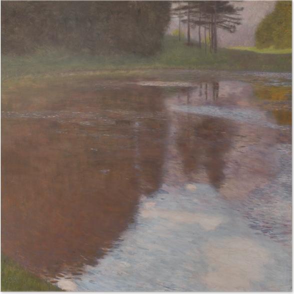 Plakat samoprzylepny Gustav Klimt - Spokojny staw - Reprodukcje