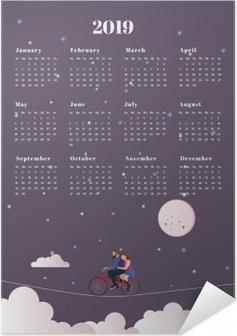 Plakat samoprzylepny Kalendarz 2019 - podróż