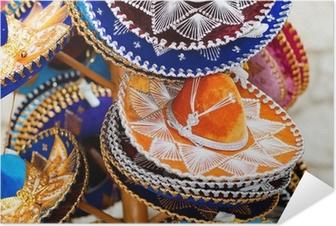 Plakat samoprzylepny Meksykańskie kapelusze