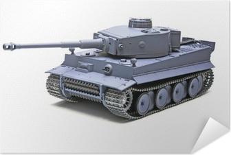 """Plakat samoprzylepny Model w skali niemiecki czołg """"Tygrys"""""""