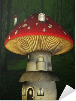 Plakat samoprzylepny Mushroom fairy house