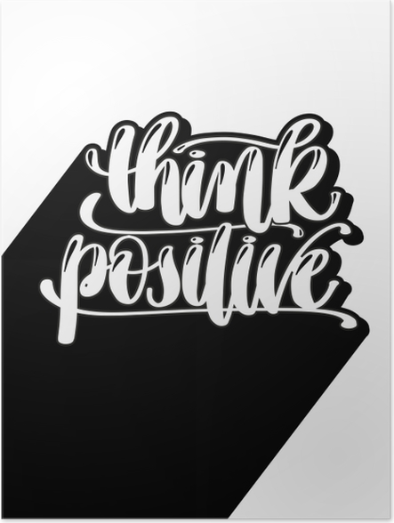 Plakat samoprzylepny Myśl pozytywnie - Motywacyjne