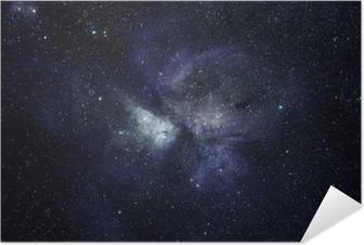 Plakat samoprzylepny Niebieskie tło przestrzeni