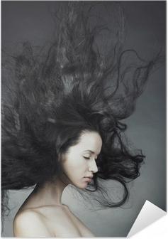 Plakat samoprzylepny Piękne kobiety z wspaniałe włosy