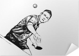 Plakat samoprzylepny Ping pong player