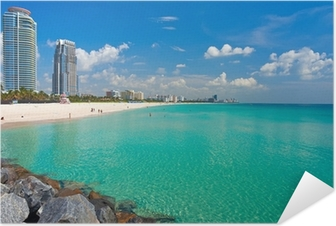 Plakat samoprzylepny Plaża na południe Miami, Floryda
