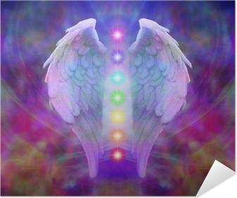 Plakat samoprzylepny Reiki Angel Wings i siedem czakr