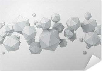 Plakat samoprzylepny Skład icosahedron do projektowania graficznego