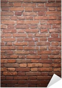 Plakat samoprzylepny Stary grunge tekstury ściany z czerwonej cegły