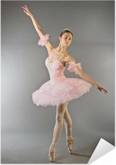 Plakat samoprzylepny Taniec baleriny na palec wyizolowanych