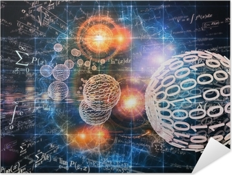 Plakat samoprzylepny Tło Matematyka