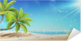 Plakat samoprzylepny Tropikalna wyspa. wektor